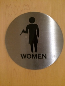 Ladies room image with a pipette